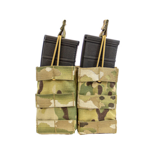 Shellback Tactical Double M4 Open Top Mag Pouch Multicam Front