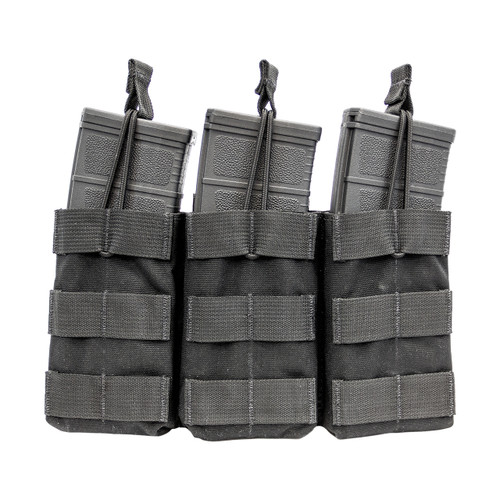 Shellback Tactical Triple M4 Open Top Mag Pouch Black Front
