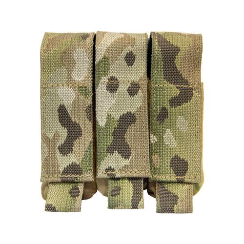 Shellback Tactical Triple Pistol Mag Pouch Multicam Front