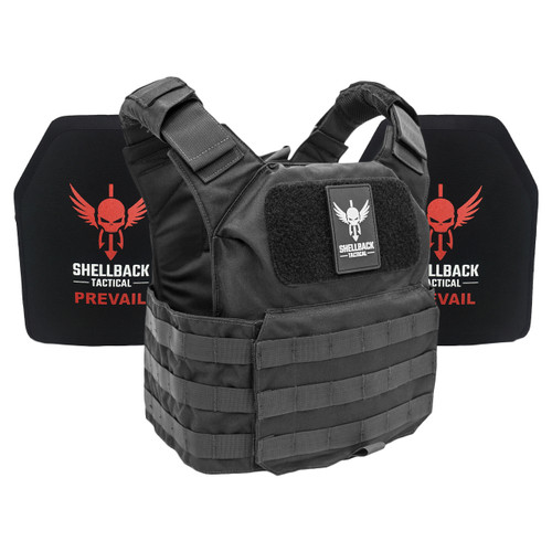 Shellback Tactical Patriot Active Shooter Kit with Level IV 1155 Plates Black