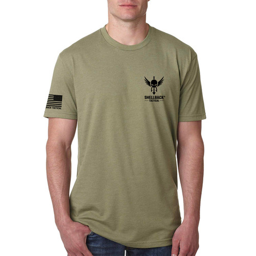 Shellback Tactical Operator Evolved Gear T-Shirt Front - Light Olive
