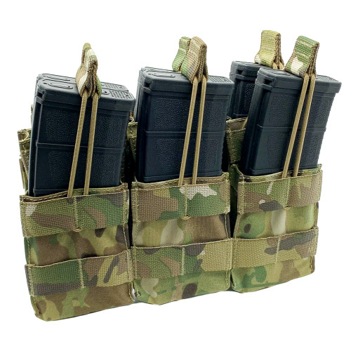 Shellback Tactical Triple Stacker Open Top M4 Mag Pouch Multicam