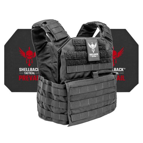 Shellback Tactical Banshee Active Shooter Kit with Level IV 4S17 Plates Black