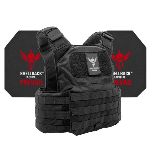 Shellback Tactical Shield Active Shooter Kit with Level IV 4S17 Plates Black