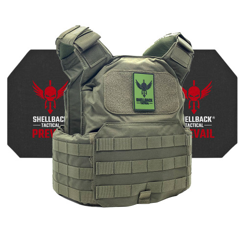 Shellback Tactical Shield Active Shooter Kit with Level IV 4S17 Plates Ranger Green