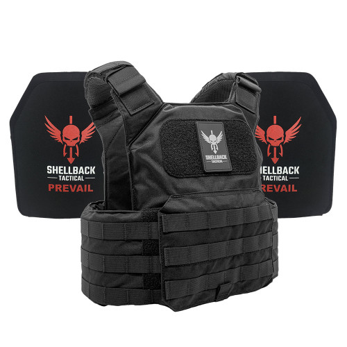 Shellback Tactical Shield Active Shooter Kit with Level IV 1155 Plates Black