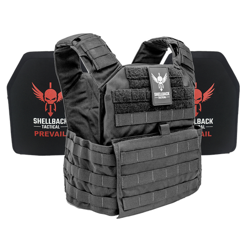 Shellback Tactical Banshee Rifle Lightweight Armor System with Level III LON-III-P Plates Black