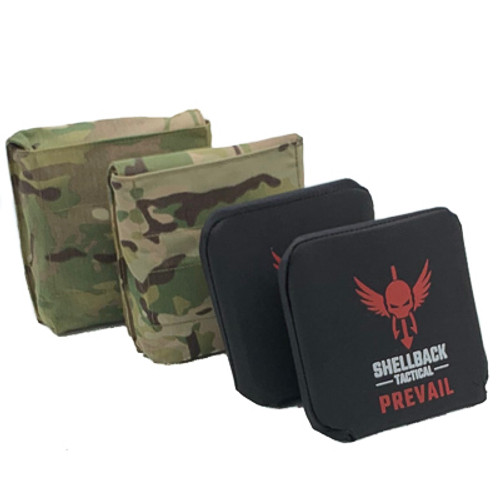 hellback Tactical Side Armor Plate Kit with Level IV Model 4S17 Side Plates Multicam