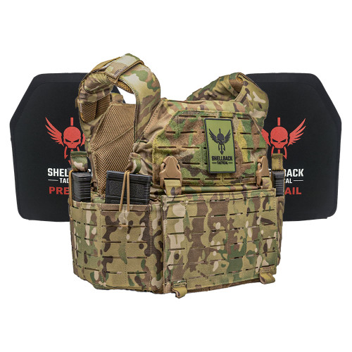 Shellback Tactical Rampage 2.0 Lightweight Armor System with Level III LON-III-P Plates Multicam