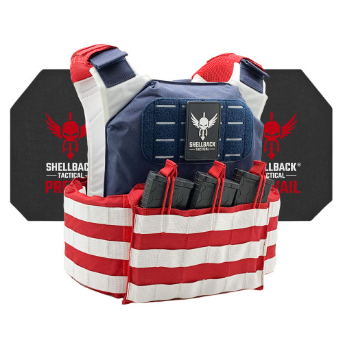 Shellback Tactical Stars and Stripes Active Shooter Kit with Level IV 4S17 Plates