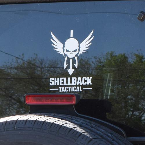 Shellback Tactical Vinyl Decal Close Up