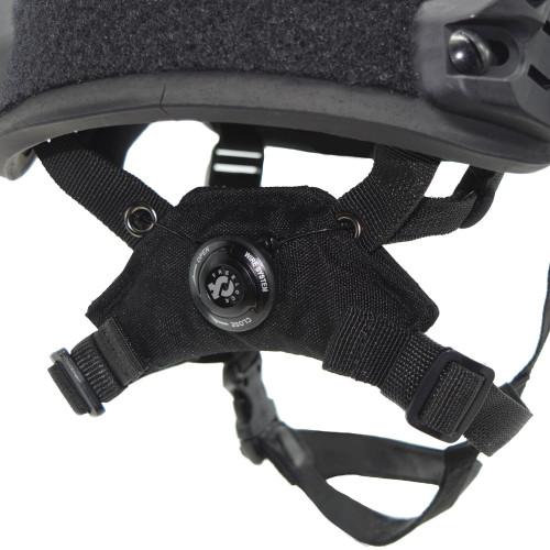 Shellback Tactical Ballistic Helmet Ratchet Retention System Black