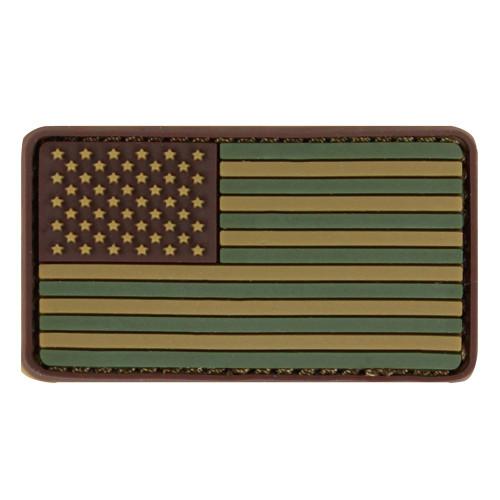 Shellback Tactical Forward Facing US Flag PVC Patch Ranger Green
