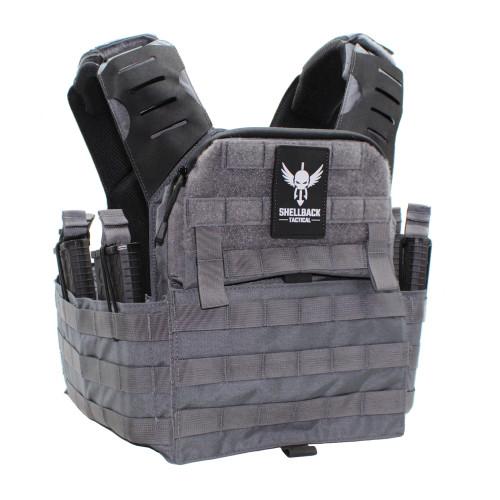 Shellback Tactical Banshee Elite 2.0 Plate Carrier Front - Wolf Grey