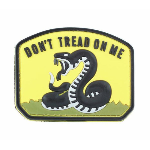 Don't Tread On Me PVC Morale Patch Yellow