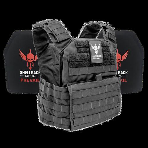 Shellback Tactical Banshee Rifle Active Shooter Kit with Level IV 1155 Plates Black