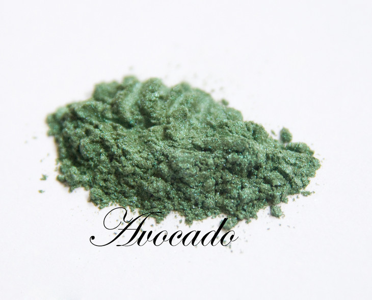 Avocado is a beautiful green that flatters all eye colors. This is mixes tastefully with our  Tan Opal  to form a nuetral shadow that is perfect for everyday use.