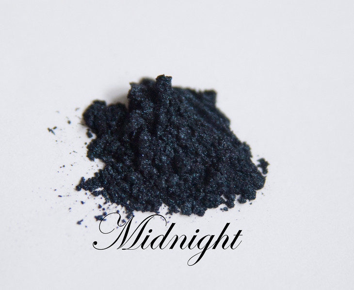 """Subtle intensity. This is a true midnight. Blue-black with a shimmer effect that is perfect for extremely dark skin or to get that """"smokey-eye"""" effect we all crave."""