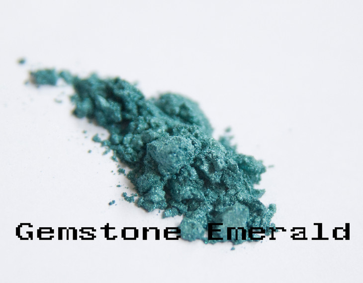 Gemstone Emerald is romantic, flirty and fun. Light blue with hints of gold make for a royal air to your look.