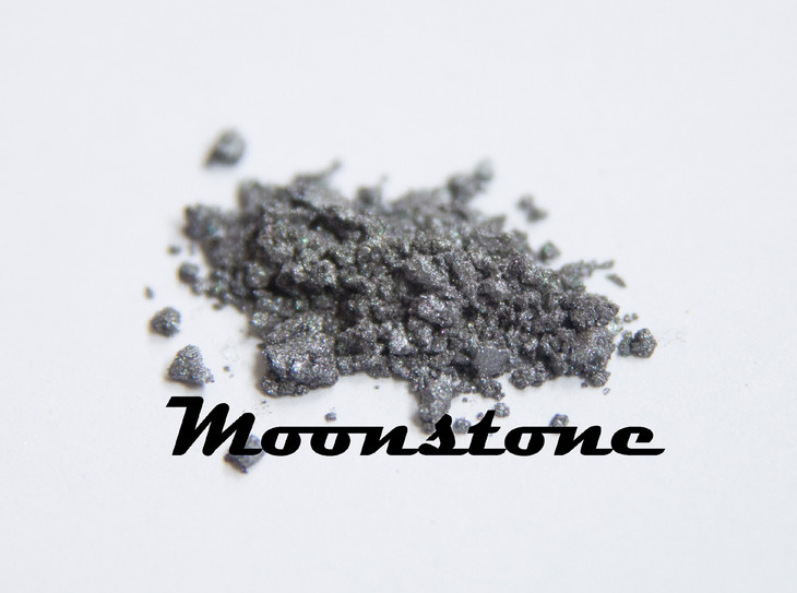 Love love love Moonstone!!!! Used by itself moonstone offers a shimmery silver/grey that is very sophisticated. Looks really good on blondes with blue eyes. Mixed in formulations moonstone has an atiquing effect that softens any color that it's paired with