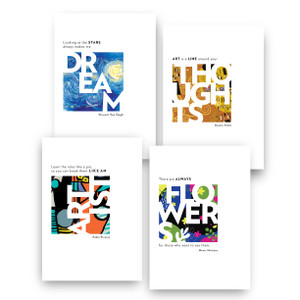 Art Quotes Notecard Series (4 pack)