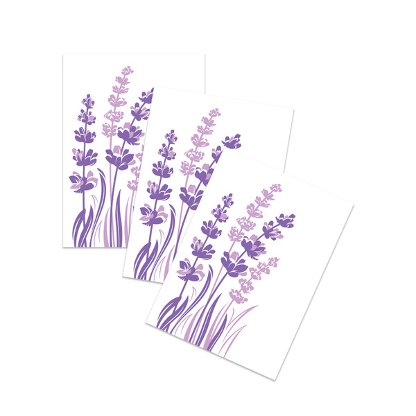 """Lavender Blossoms"" Letterpress Notecard Set"