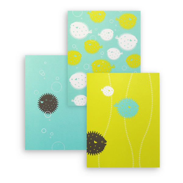 """Tropical Puffer Fish"" Notecard Series"