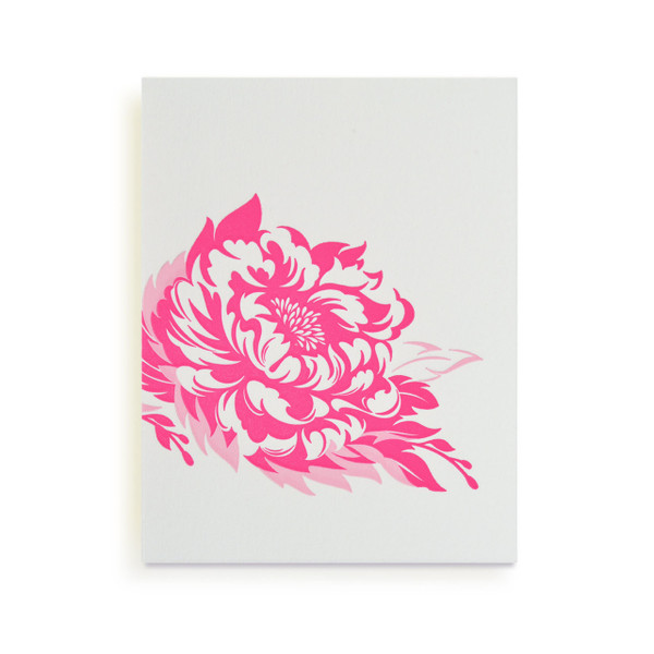 """Asian Blossoms"" Letterpress Notecard Series"