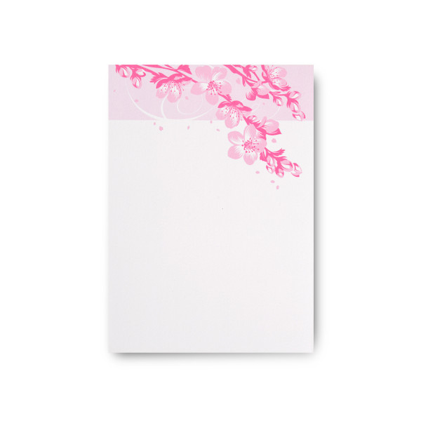 """Asian Blossoms"" Notepad – Sakura"