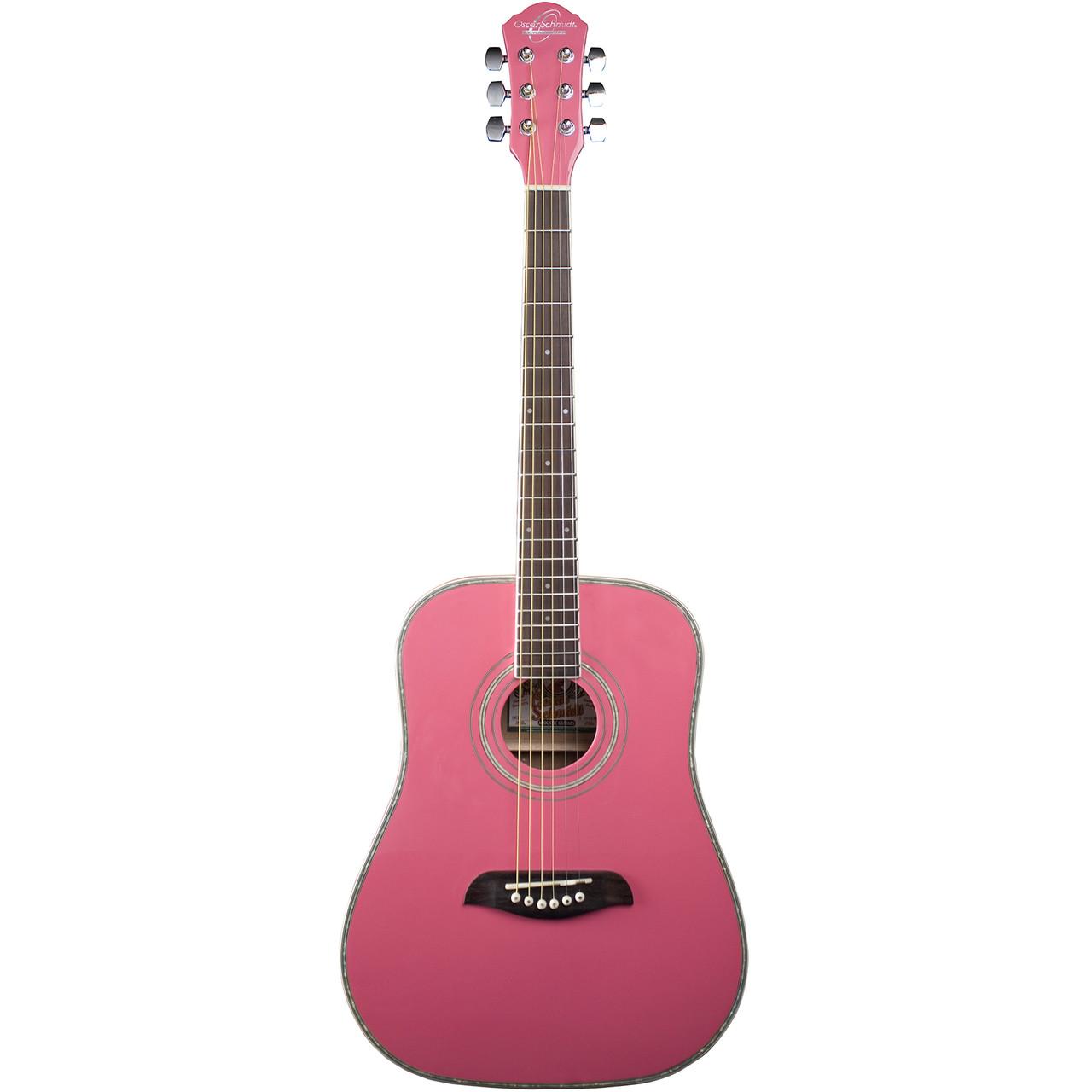 Black Oscar Schmidt OG1 3//4-Size Dreadnought Acoustic Guitar