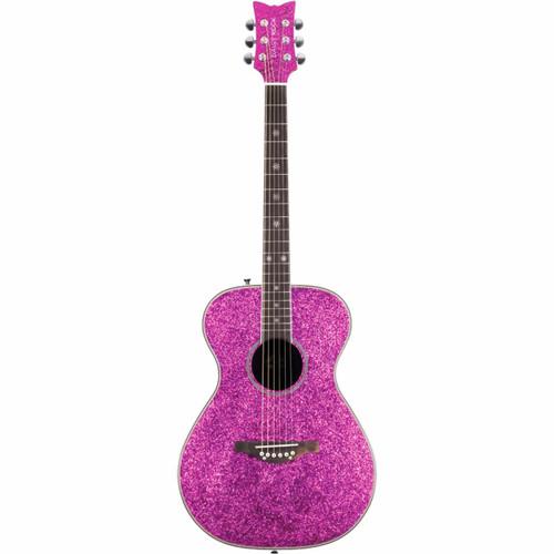 Daisy Rock DR6225 Pixie Sparkle Acoustic Electric Guitar, Pink Sparkle