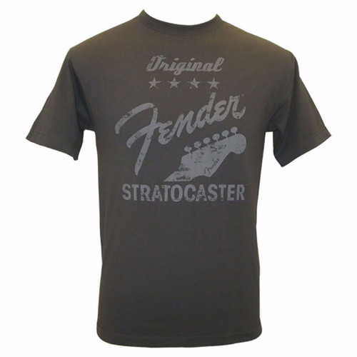 Fender Original Stratocaster T-Shirt Charcoal, XL 911-1003-669