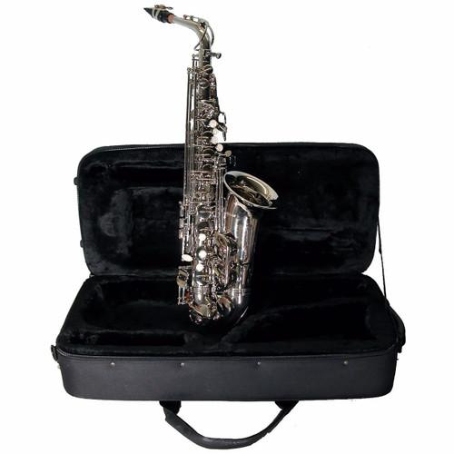 Mirage SX60ANI Student Eb Alto Saxophone w/Case & Accessories, Nickel Finish
