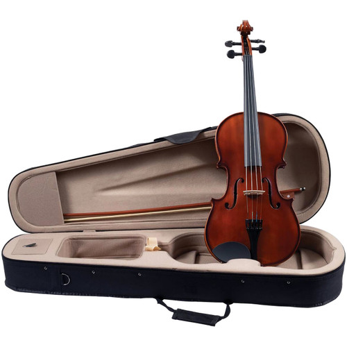 """Palatino Campus VA-350 Solid Hand Carved 15"""" Viola Outfit with Case and Bow, Golden Brown (VA-350-15)"""