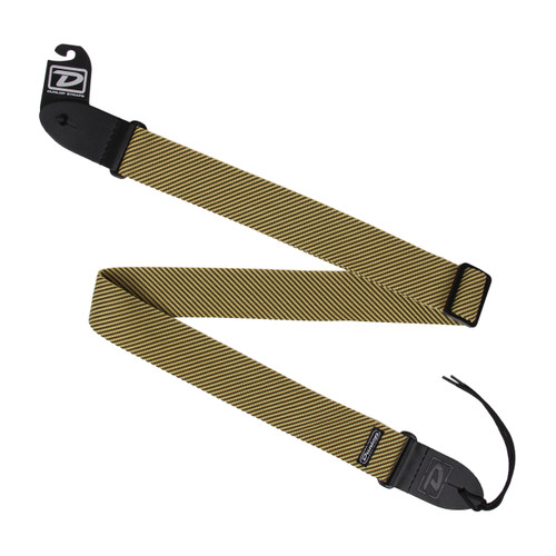 Dunlop D38-15CL Tweed Classic Woven Nylon Guitar Strap with Leather Ends, Tweed