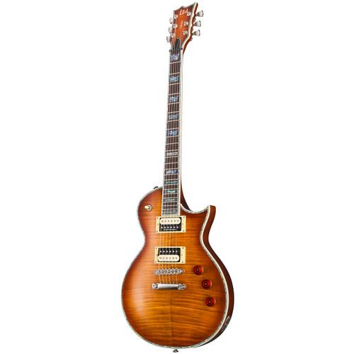 ESP LTD Deluxe Eclipse EC-1000FM Flame Maple Top Electric Guitar, Amber Sunburst