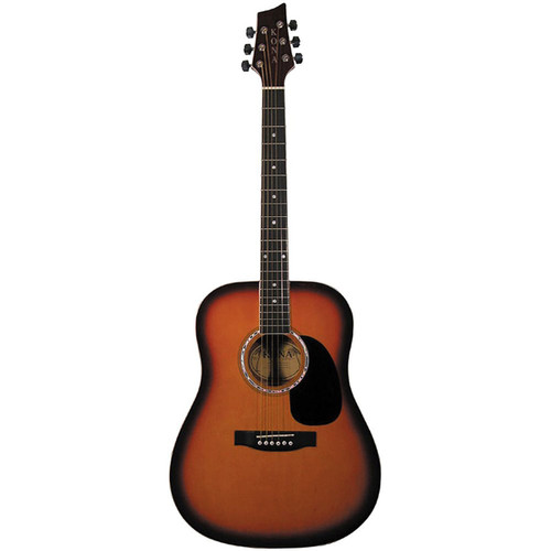 Kona K41 Full Size 6-String Dreadnought Acoustic Guitar, Tobacco Sunburst