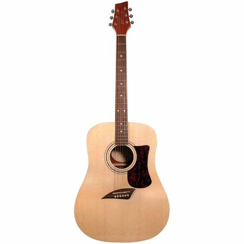 Kona KG1N Gold Solid Top Dreadnought Acoustic Guitar (KG1N)