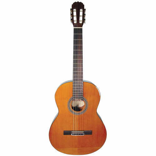 Kona KC1 Student 6-String Nylon-String Classical Acoustic Guitar, Natural