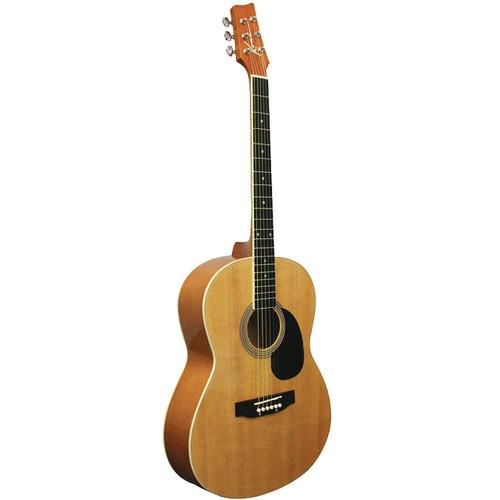 Kona K391 Parlor Size Acoustic Guitar, Natural (K391)