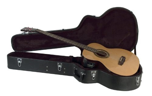 Guardian CG-022-BA Deluxe Archtop Hardshell Case for Acoustic Bass Guitar, Black