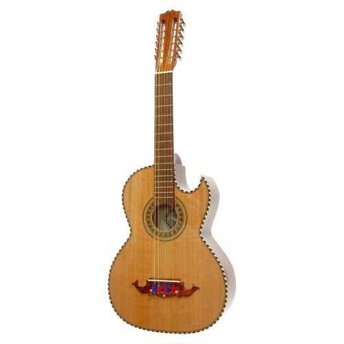 Paracho Elite BRAVO 12-String Bajo Sexto Acoustic Guitar w/ Solid Cedar Top, Natural