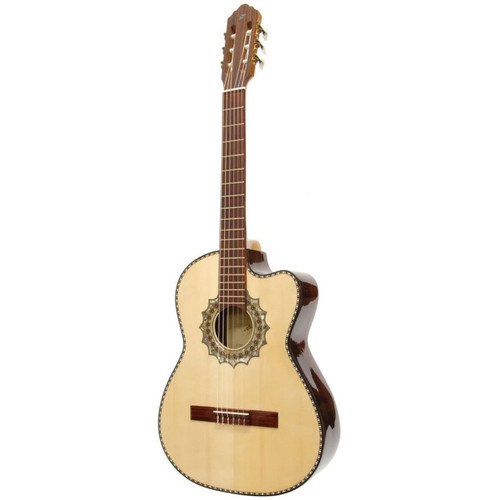 Paracho Elite El Paso Classical Acoustic Guitar with Solid Spruce Top, Natural (ELPASO)