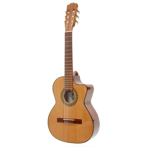 Paracho Elite Gonzales 6-String Classical Requinto Acoustic Guitar, Natural (GONZALES)