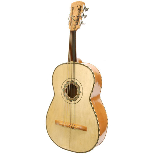 Paracho Elite Guitarron 6 String Mariachi Acoustic Bass Guitar w/ GigBag, Natural