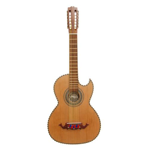 Paracho Elite Hidalgo Thin Body 12-String Bajo Sexto Guitar, Natural (HIDALGO)