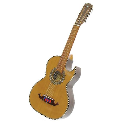 Paracho Elite Presidio 12-String Bajo Sexto Acoustic Guitar with Solid Cedar Top, Natural (PRESIDIO)
