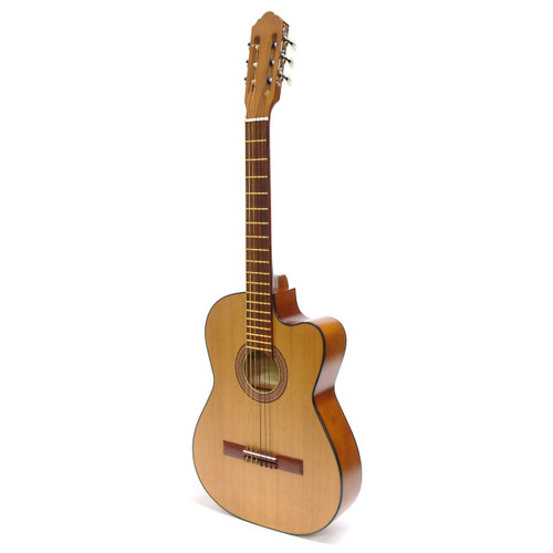 Paracho Elite San Benito Thin Body Classical Acoustic Guitar with Solid Cedar Top , Natural (SANBENITO)