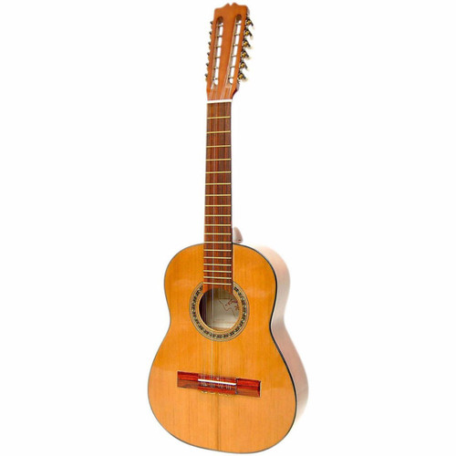 Paracho Elite Columbian Tiple 12-String Classical Acoustic Guitar, Natural (TIPLE)