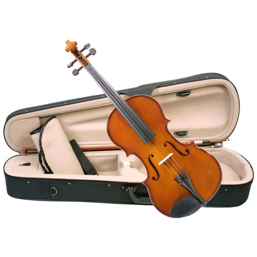 """Palatino Allegro VA-450 Hand Carved Viola Outfit With Case & Bow, 14"""" Size (VA-450-14)"""